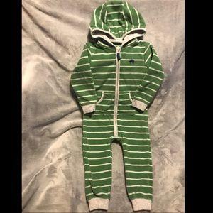 24m 🦖 Carter's Dino Hooded Fleece Jumpsuit